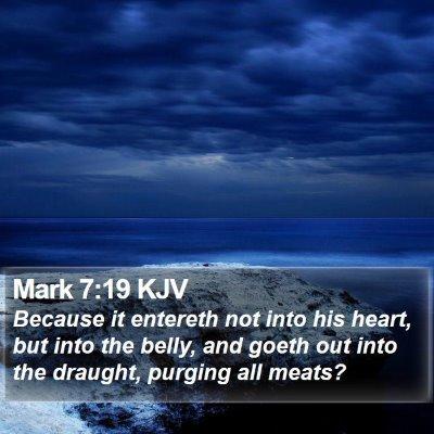 Mark 7:19 KJV Bible Verse Image