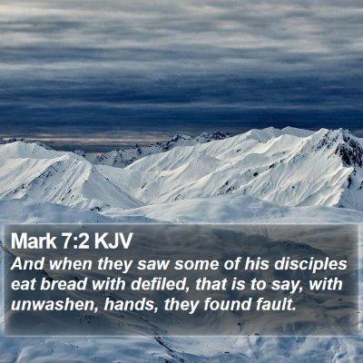 Mark 7:2 KJV Bible Verse Image