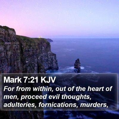 Mark 7:21 KJV Bible Verse Image