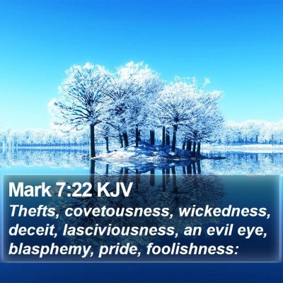 Mark 7:22 KJV Bible Verse Image