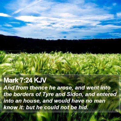 Mark 7:24 KJV Bible Verse Image