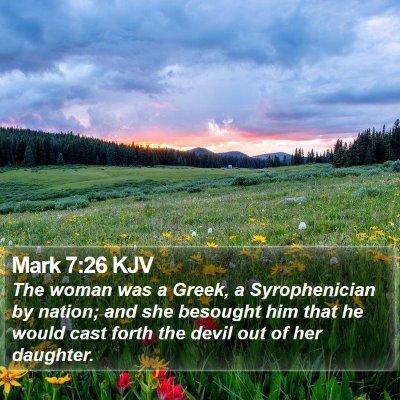 Mark 7:26 KJV Bible Verse Image