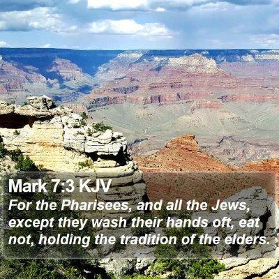 Mark 7:3 KJV Bible Verse Image