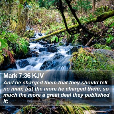 Mark 7:36 KJV Bible Verse Image