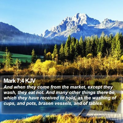 Mark 7:4 KJV Bible Verse Image