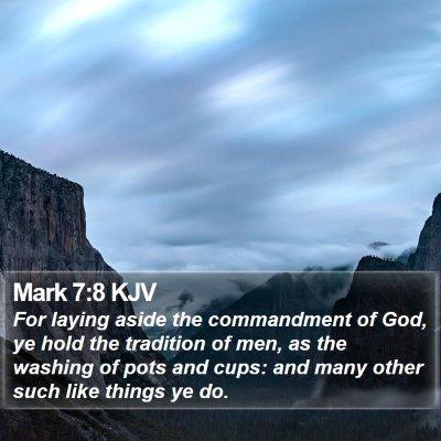 Mark 7:8 KJV Bible Verse Image