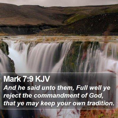 Mark 7:9 KJV Bible Verse Image