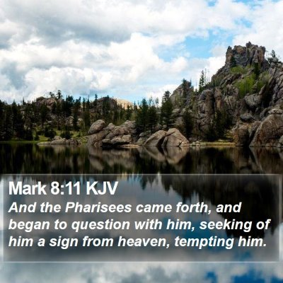 Mark 8:11 KJV Bible Verse Image