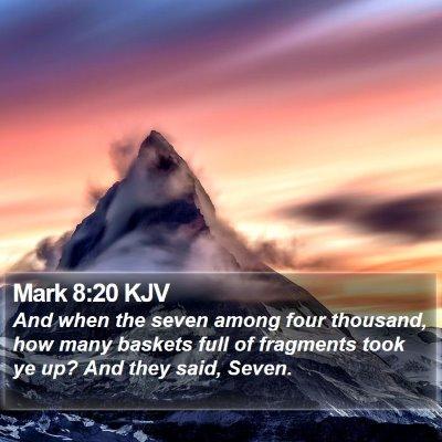 Mark 8:20 KJV Bible Verse Image