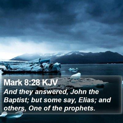 Mark 8:28 KJV Bible Verse Image