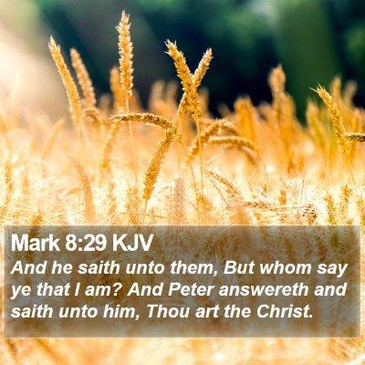 Mark 8:29 KJV Bible Verse Image