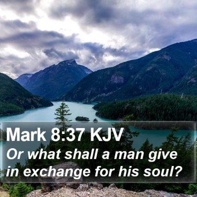 Mark 8:37 KJV Bible Verse Image