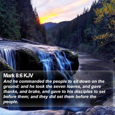 Mark 8:6 KJV Bible Verse Image