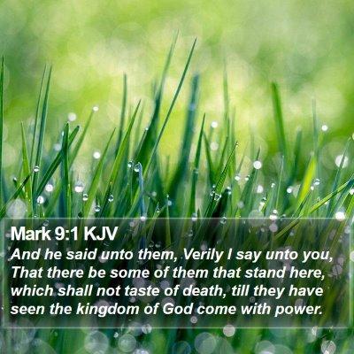 Mark 9:1 KJV Bible Verse Image