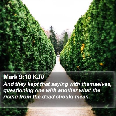 Mark 9:10 KJV Bible Verse Image
