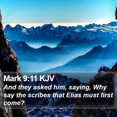 Mark 9:11 KJV Bible Verse Image