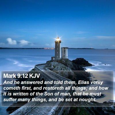 Mark 9:12 KJV Bible Verse Image