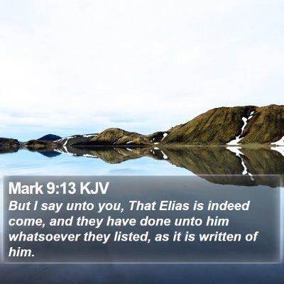 Mark 9:13 KJV Bible Verse Image