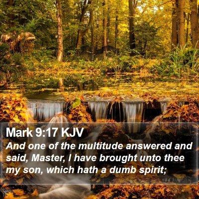 Mark 9:17 KJV Bible Verse Image