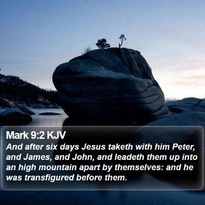 Mark 9:2 KJV Bible Verse Image