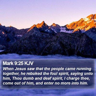 Mark 9:25 KJV Bible Verse Image