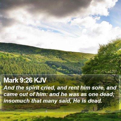 Mark 9:26 KJV Bible Verse Image
