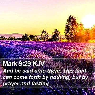 Mark 9:29 KJV Bible Verse Image
