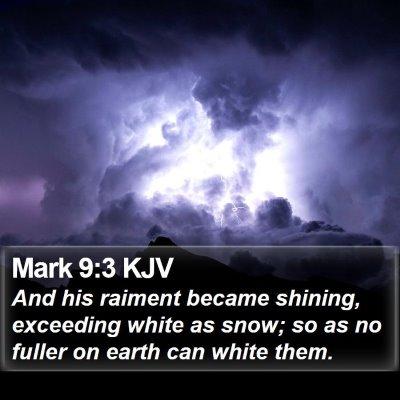 Mark 9:3 KJV Bible Verse Image