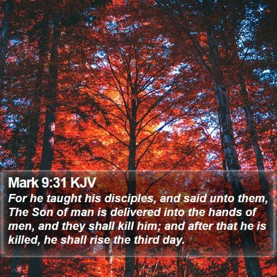 Mark 9:31 KJV Bible Verse Image