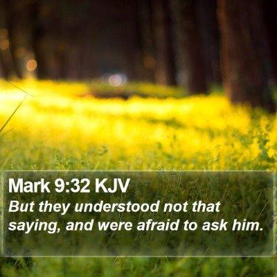 Mark 9:32 KJV Bible Verse Image
