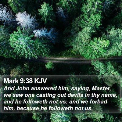 Mark 9:38 KJV Bible Verse Image