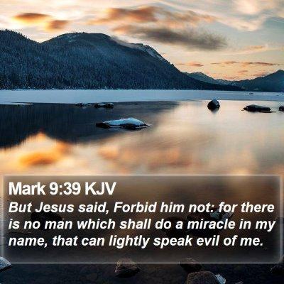 Mark 9:39 KJV Bible Verse Image