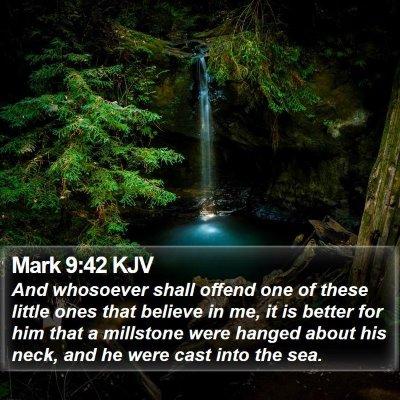 Mark 9:42 KJV Bible Verse Image