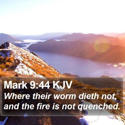 Mark 9:44 KJV Bible Verse Image