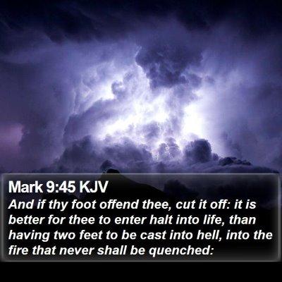 Mark 9:45 KJV Bible Verse Image