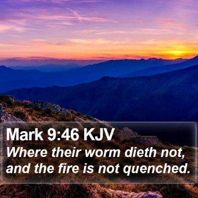 Mark 9:46 KJV Bible Verse Image