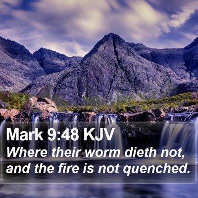 Mark 9:48 KJV Bible Verse Image