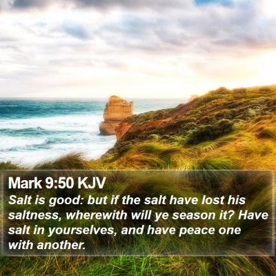 Mark 9:50 KJV Bible Verse Image