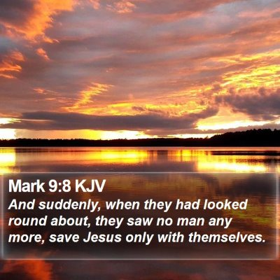 Mark 9:8 KJV Bible Verse Image