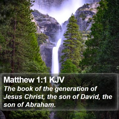 Matthew 1:1 KJV Bible Verse Image