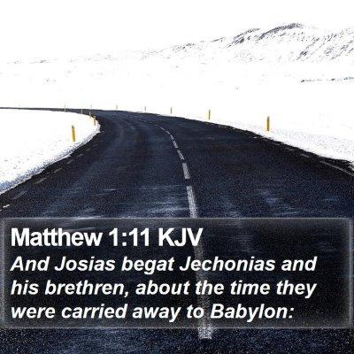 Matthew 1:11 KJV Bible Verse Image