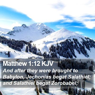 Matthew 1:12 KJV Bible Verse Image