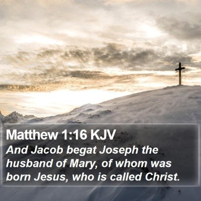 Matthew 1:16 KJV Bible Verse Image