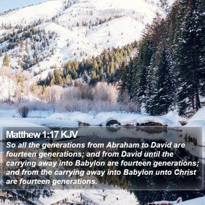 Matthew 1:17 KJV Bible Verse Image