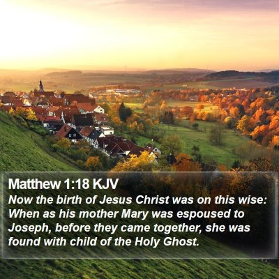 Matthew 1:18 KJV Bible Verse Image