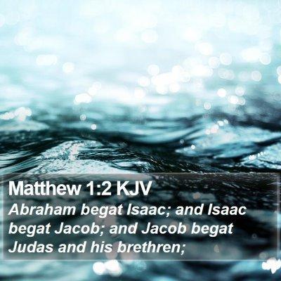 Matthew 1:2 KJV Bible Verse Image
