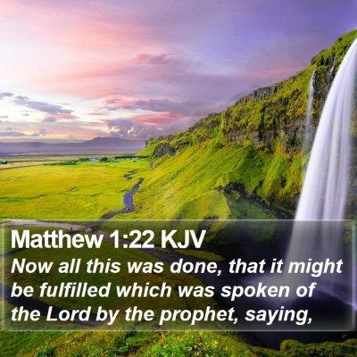 Matthew 1:22 KJV Bible Verse Image