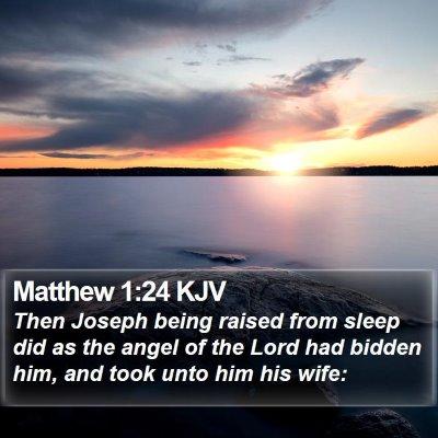 Matthew 1:24 KJV Bible Verse Image