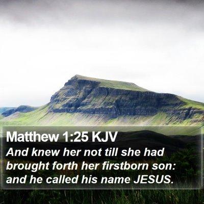 Matthew 1:25 KJV Bible Verse Image