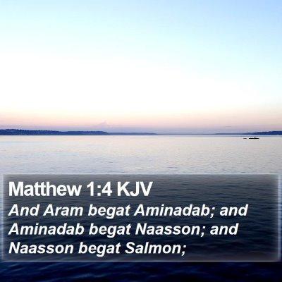 Matthew 1:4 KJV Bible Verse Image